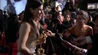 Sandra Bullock at the 2010 Vanity Fair Oscar Party Hosted By Graydon Carter at West Hollywood CA