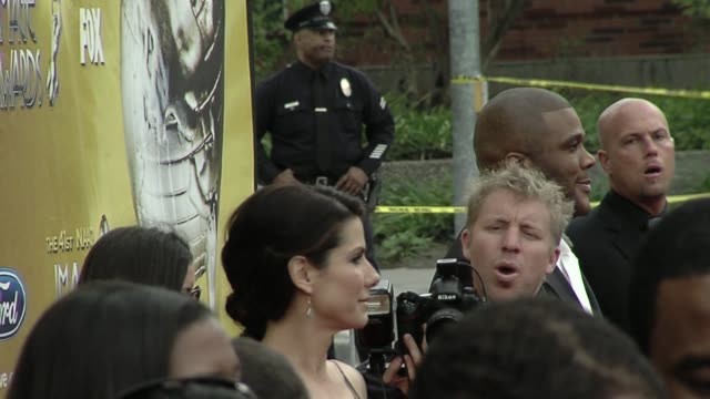 Sandra Bullock Tyler Perry at the 41st NAACP Image Awards at Los Angeles CA