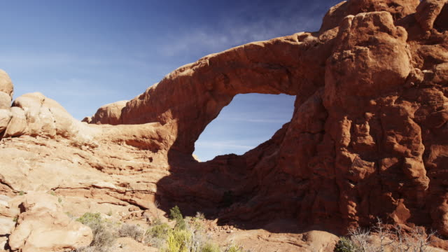 Sandstone arch in Arches National Park.