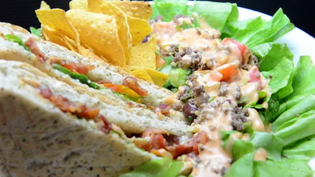 BTL Sandwich on Taco Salad 2