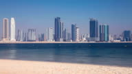Sandy Beach, Sea and The City
