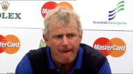 Sandy Lyle press conference Lyle press conference SOT No cracked bones or visual scar but can feel it/Will tarnish things for while but will blow...