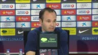 Sant Joan Despí 23 May Barcelona midfielder Andres Iniesta admitted at a press conference on Wednesday that he was disheartened by the Copa del Rey...