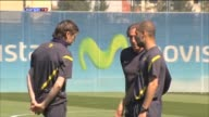Sant Joan Despi 3 May Barcelona midfielder Xavi Hernandez joined the Barcelona first team squad at training on Thursday in what was the first time...