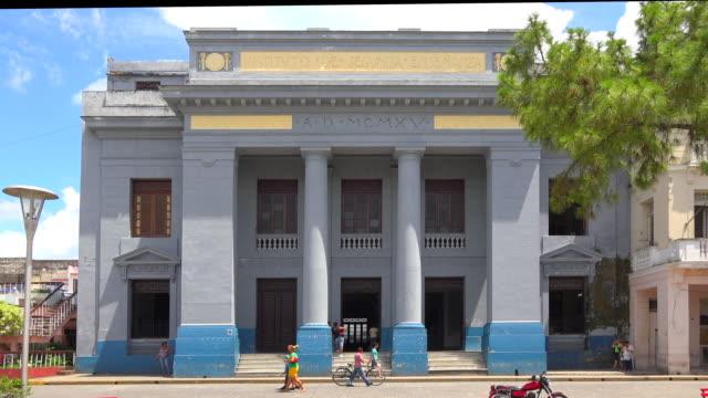 Santa Clara, Cuba: Osvaldo Herrera High School in the Leoncio Vidal Park