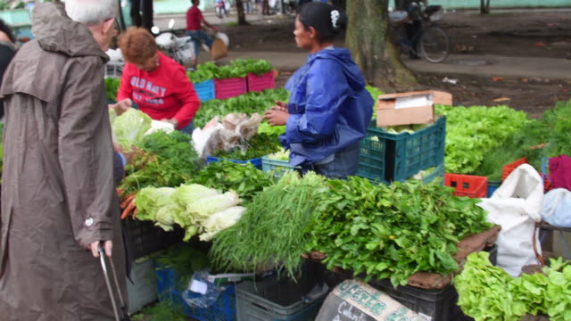 Santa Clara, Cuba: Sunday Farmer's Market in the Sandino Area. Selling vegetables at market prices