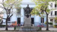 Santa Clara, Cuba: time lapse at Marta Abreu statue in the Leoncio Vidal park or town square. Marta has the title of benefactress of the city.