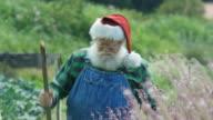 Santa Claus enjoying the nature.