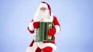 Santa Claus playing the accordion