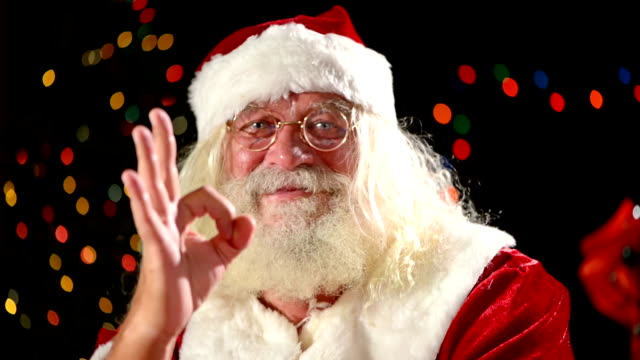 Santa Claus Thumbs Up Stock Footage Video | Getty Images