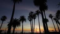 Santa Monica Palisades at dusk