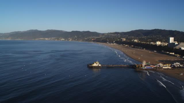 Santa Monica Pier and coastline. Shot in 2010.
