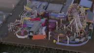 AERIAL Santa Monica Pier / Santa Monica, California, United States