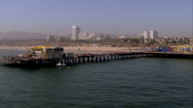 AERIAL Santa Monica Pier, Santa Monica, California, USA
