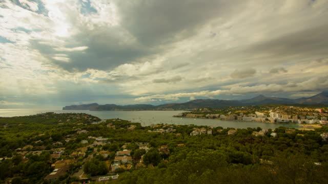 Santa Ponsa boats Yachts, aerial view Majorca Palma de Mallorca