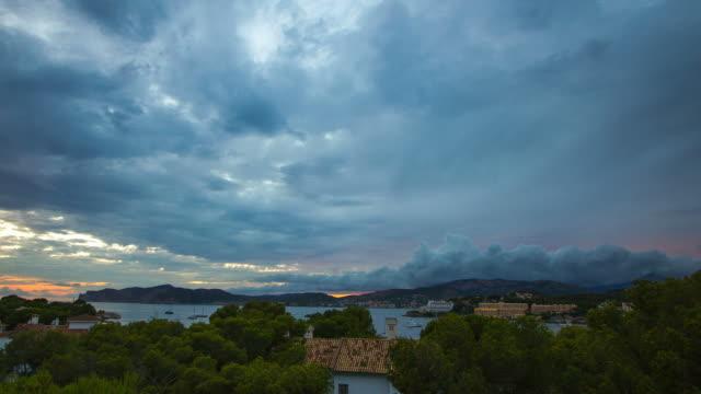 Santa Ponsa City yachts stormy weather Palma de Mallorca Majorca