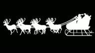 Santa Sleigh Silhouette (Luma Matte)   Loopable