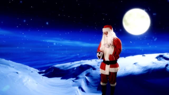 Santa using a touch screen