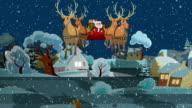 Santa's Fahrt durch die Countryside Village