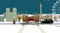 Santa's ride through London