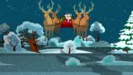 Santa's ride through the Countryside
