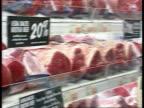 Santer and the Press/ Waldegraves 'Withdrawal' remarks ENGLAND Asda Supermarket MS Kenneth Clarke MP along in supermarket PAN CS Sign 'Asda backs...
