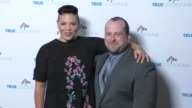 Sara Ramirez and Gregory Lewis at the Cyndi Lauper's True Colors Fund Inaugural Damn Gala at Hollywood Athletic Club on October 09 2016 in Hollywood...