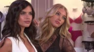 Sara Sampaio and Elsa Hosk at Victoria's Secret Angels Elsa Hosk and Sara Sampaio Celebrate the Best TShirt Bra Ever at Victoria's Secret Fifth Ave...