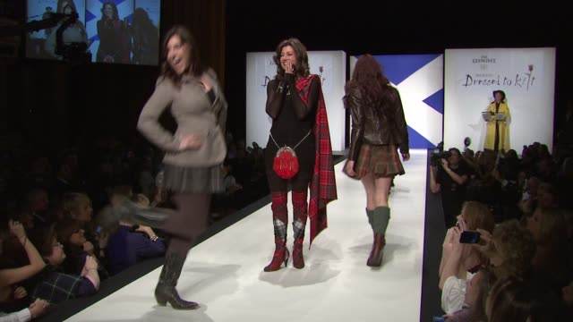 Sarah Chapman Amy Grant Millie Chapman and Jenny Gill and models at the 9th Annual Dressed To Kilt Charity Fashion Show at New York NY