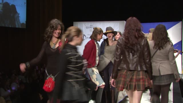 Sarah Chapman Amy Grant Millie Chapman Jenny Gill and models at the 9th Annual Dressed To Kilt Charity Fashion Show at New York NY