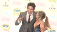 Sarah Hyland and Tyler Posey at the Teen Choice Awards 2014 at The Shrine Auditorium on August 10 2014 in Los Angeles California