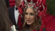 INTERVIEW Sarah Jessica Parker on who she wants to see tonight at 'China Through The Looking Glass' Costume Institute Benefit Gala Arrivals at...