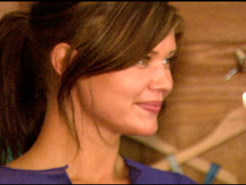 Sarah Lancaster at the 'French Connection' Celebrity Styling Launch at Chateau Marmont in West Hollywood California on June 22 2006
