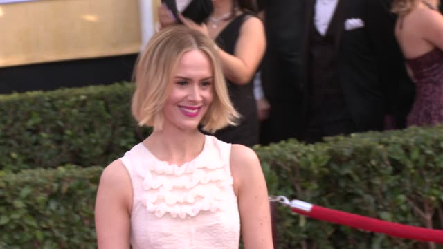 Sarah Paulson at 20th Annual Screen Actors Guild Awards Arrivals at The Shrine Auditorium on in Los Angeles California