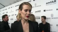 INTERVIEW Sarah Paulson on why it was important for her to support amfAR at amfAR's Inspiration Gala Los Angeles 2015 in Los Angeles CA