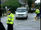 Roy Whiting court appearance ITN ENGLAND West Sussex Chichester EXT Unmarked van along as leaving grounds of Chichester Police station for court PAN...