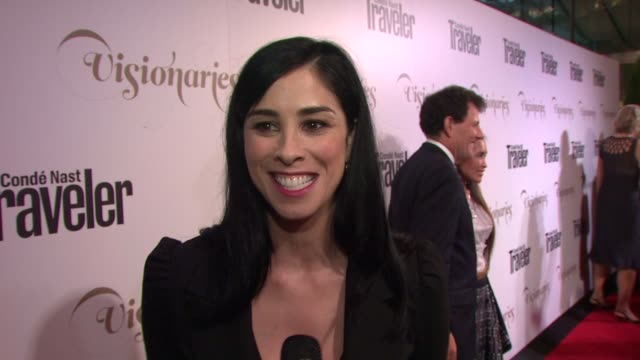 Sarah Silverman on if she likes to travel and who she is voting for President at Conde Nast Traveler Celebrates 'The Visionaries' And 25 Years Of...