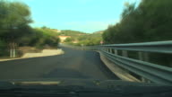 Sardinian background from the car