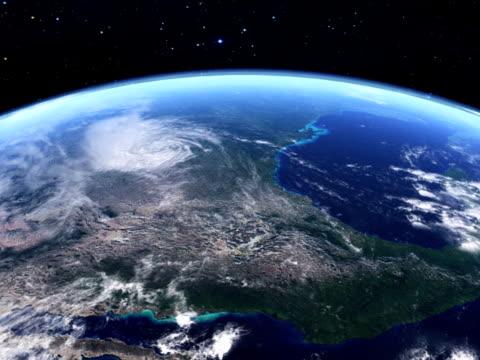 Satelite view over USA