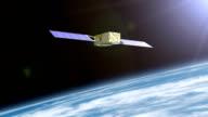 Satellite destroyed by space debris