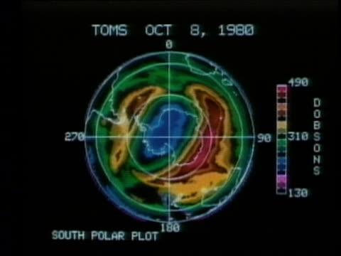 1990 WS Satellite image showing hole in ozone over Antarctica, AUDIO