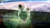 Satellite in orbit around the earth.