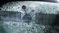 Satellite in orbit of the Moon.