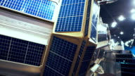 Satellite solar panel - close-up view