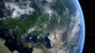 Satellitenaufnahme von Europa