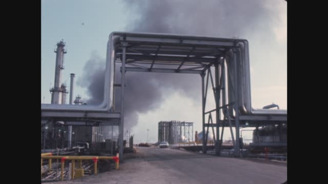 Saudi Arabia Oil ***ALSO SAUDI ARABIA Ras Tanura MS Flame burns PULL OUT GV Storage tanks GV PAN refinery LR MS Reflection in water TILT pipes MS...