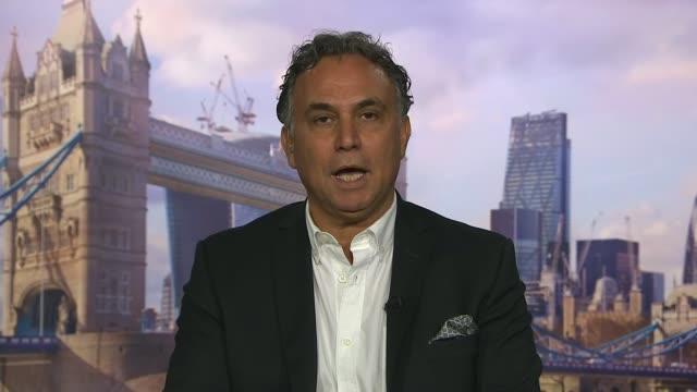 Saudi Arabia tells Qatar to close Al Jazeera television network ENGLAND London INT Marwan Bishara 2WAY interview from Qatar SOT Adel alJubeir setup...