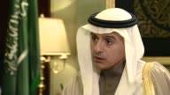 Saudi Foreign Minister Adel AlJubeir comments on Iran during London visit ENGLAND London INT Adel alJubeir interview SOT