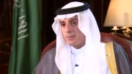 Saudi Foreign Minister Adel alJubeir interview ENGLAND London INT Adel alJubeir interview SOT