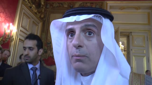 Saudi Foreign Minister Adel alJubeir talks to journalists after a meeting on Syria at the French foreign ministry in Paris on May 09 2016